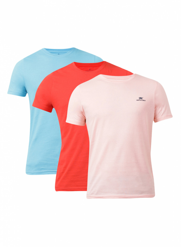 d20041a1bed Buy Monte Carlo Multi Solid Round Neck T Shirt (Pack Of 3) Online in ...