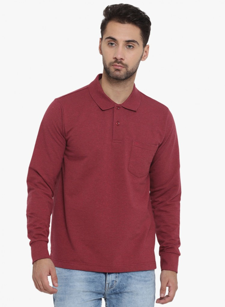 241162d9728 Buy Maroon Solid Polo T Shirt Online in India - Monte Carlo